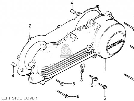 Honda NB50M AERO 50 1984 (E) USA parts lists and schematics
