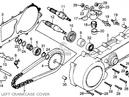 Honda NC50 EXPRESS 1978 USA parts lists and schematics