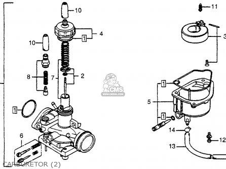 Honda Nc50 Express 1979 (z) Usa parts list partsmanual