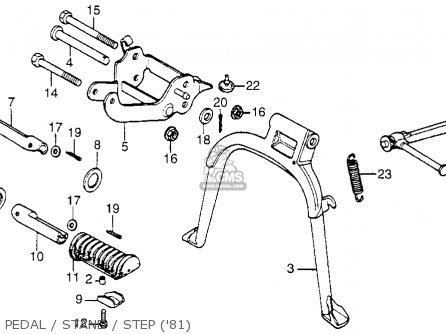 Honda NC50 EXPRESS 1981 (B) USA parts lists and schematics