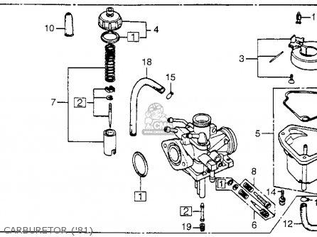 Honda Nc50 Express 1981 Usa parts list partsmanual partsfiche