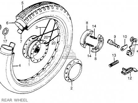 Honda Nc50 Express 1982 (c) Usa parts list partsmanual