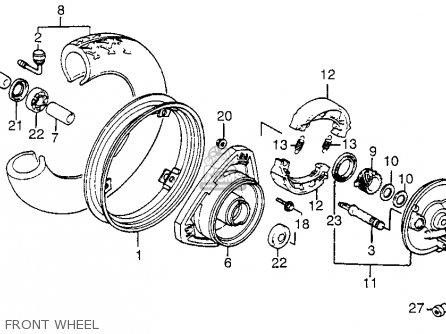 Honda Nh125 Aero 125 1984 (e) Usa parts list partsmanual