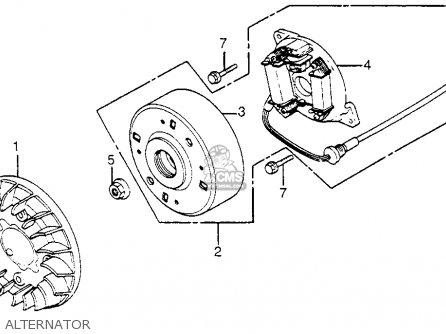 Honda Nh80 1985 Aero 80 Usa parts list partsmanual partsfiche
