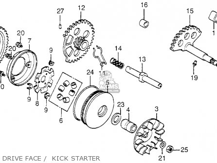 Honda NH80MD AERO 80 1983 (D) USA parts lists and schematics