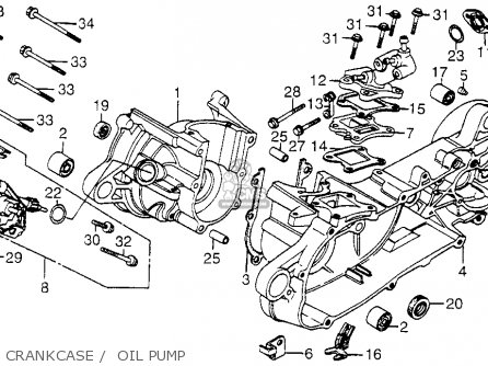 Honda Nh80md Aero 80 1984 Usa parts list partsmanual