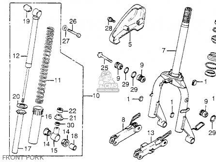 Honda Nh80md Aero 80 1984 Usa parts list partsmanual