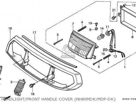 Honda Nh80md Lead 1989 Australia / Kph Mk parts list