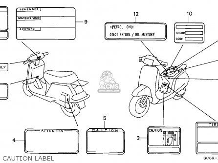 Honda NH80MD LEAD 1994 (R) ENGLAND parts lists and schematics