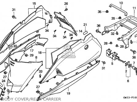 Honda Nh90 Lead 1993 (p) Spain parts list partsmanual