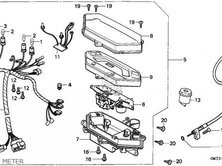 Honda Nh90 Lead 1993 Spain parts list partsmanual partsfiche