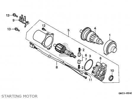 Honda NH90 LEAD 1994 (R) SPAIN parts lists and schematics