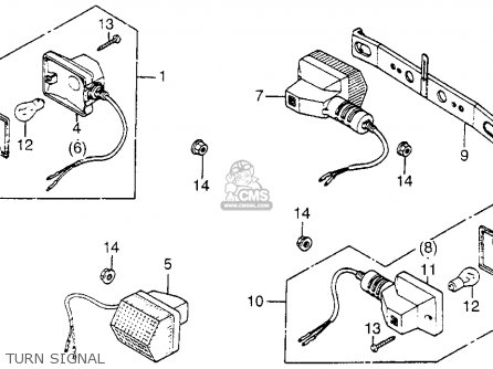 Honda NN50MD GYRO 1984 (E) USA parts lists and schematics