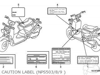 Honda NPS50 ZOOMER 2008 (8) KOREA parts lists and schematics