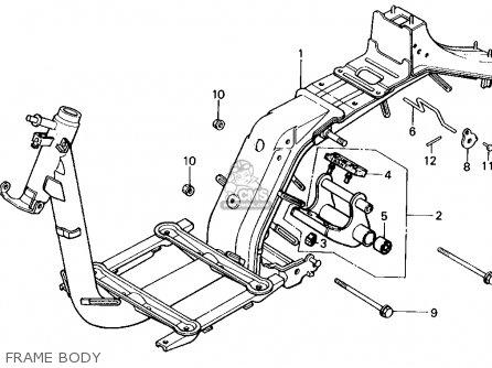 Honda NQ50 SPREE 1984 (E) USA parts lists and schematics