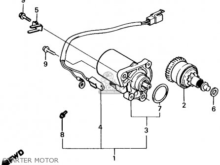Honda Nq50 Spree 1984 Usa parts list partsmanual partsfiche