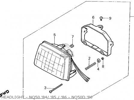 Honda Nq50 Spree 1985 Usa parts list partsmanual partsfiche