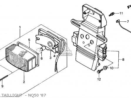 Honda Nq50 Spree 1987 (h) Usa parts list partsmanual