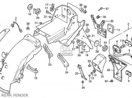 Honda Ns400r 1985 (f) England parts list partsmanual