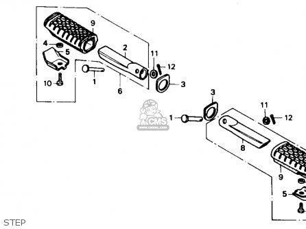Honda Ns50f 1990 (l) Usa parts list partsmanual partsfiche