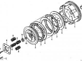 Honda NSR MINI HRC 2000 JAPAN parts lists and schematics