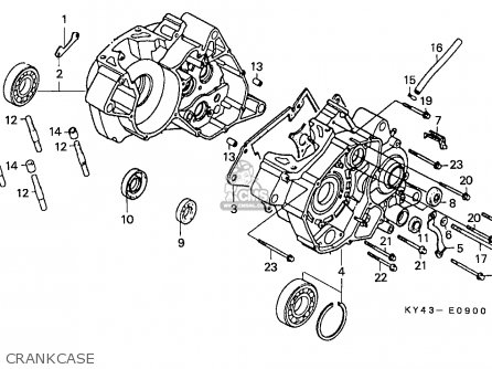 Honda NSR125F 1988 (J) SPAIN / KPH parts lists and schematics