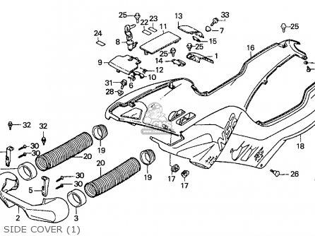 Honda Nsr125f 1988 (j) Spain / Kph parts list partsmanual