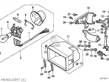 Honda NSR125F 1989 (K) ITALY / KPH parts lists and schematics