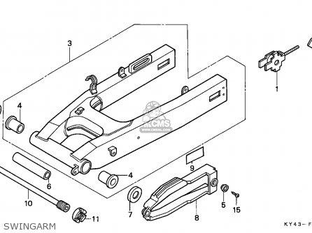 Honda NSR125F 1990 (L) ITALY / KPH parts lists and schematics