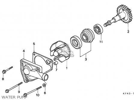 Honda Nsr125f 1990 (l) Italy / Kph parts list partsmanual