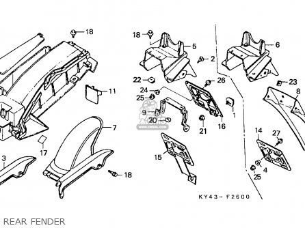 Honda NSR125F 1992 (N) SPAIN / KPH parts lists and schematics