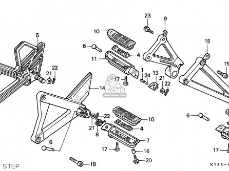 Honda Nsr125r 1989 (k) England / Mkh parts list