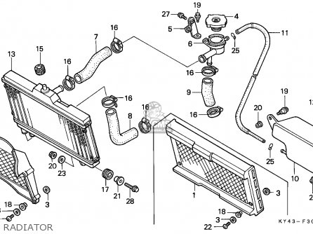 Honda NSR125R 1989 (K) ITALY / KPH parts lists and schematics