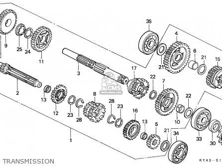 Honda NSR125R 1989 (K) SPAIN / KPH parts lists and schematics