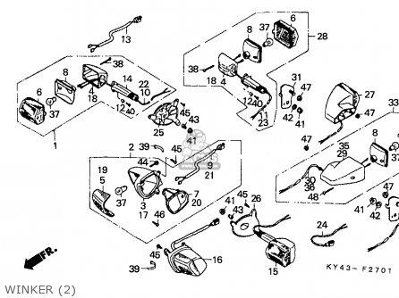 Honda Nsr125r 1990 (l) England / Mkh parts list