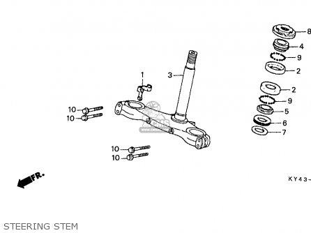 Honda NSR125R 1990 (L) ITALY / KPH parts lists and schematics