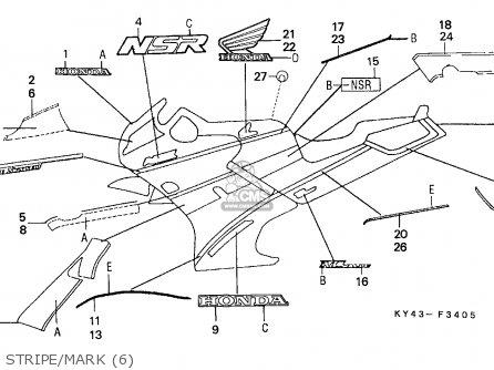 Honda NSR125R 1991 (M) ENGLAND / MKH parts lists and