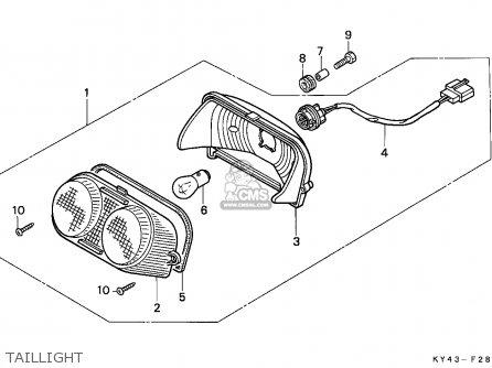 Honda Nsr125r 1991 (m) England / Mkh parts list