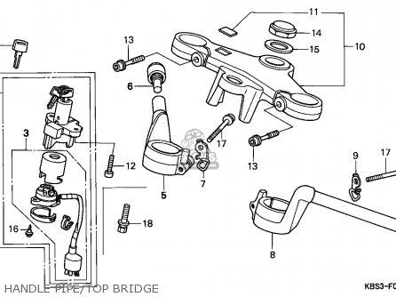 Honda Nsr125r 1993 (p) Spain parts list partsmanual partsfiche
