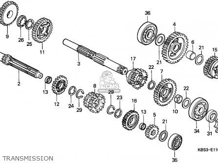 Honda Nsr125r 1995 (s) Spain parts list partsmanual partsfiche