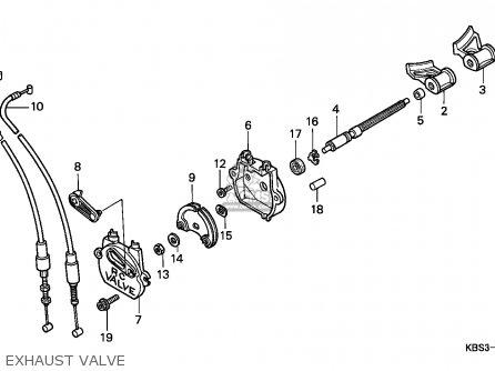 Honda NSR125R 1997 (V) ENGLAND parts lists and schematics