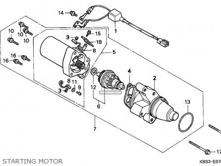Honda NSR125R 1998 (W) FRANCE / CMF parts lists and schematics