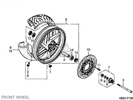 Honda NSR125R 1998 (W) ITALY parts lists and schematics