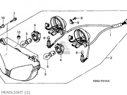 Honda NSR125R 1998 (W) ITALY / LS parts lists and schematics