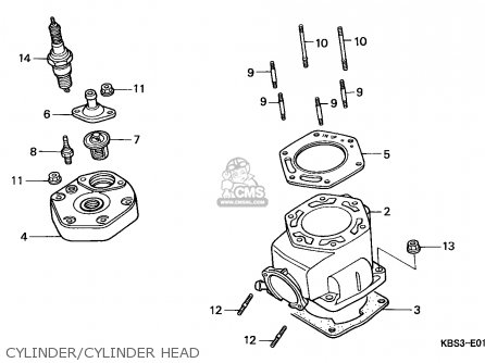 Honda NSR125R 1999 (X) ENGLAND parts lists and schematics