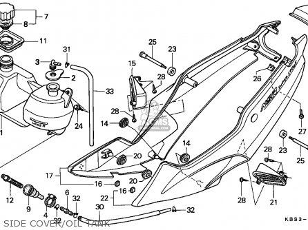 Honda NSR125R 1999 (X) ENGLAND parts lists and schematics