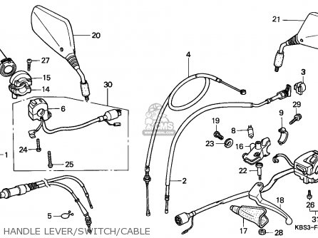 Honda Nsr125r Ns125f 1993 (p) Italy France parts list