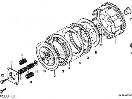 Honda NSR50F 1994 (R) PORTUGAL parts lists and schematics