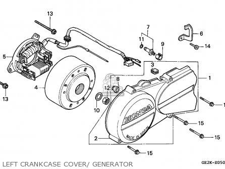 Honda NSR50S 1993 (P) BELGIUM / HOR parts lists and schematics