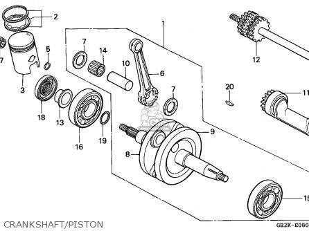 Honda Nsr50s 1995 (s) Germany / Hor parts list partsmanual